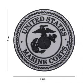 Patch 3D PVC United States Marine Corps Grey - 101 INC
