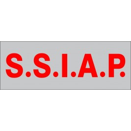 Dossard S.S.I.A.P. rouge