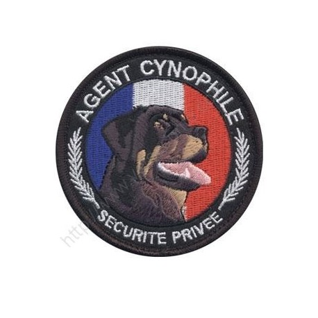 ÉCUSSON ROND AGENT CYNOPHILE ROTT