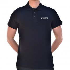 Polo SECURITE noir - VETSECURITE.COM