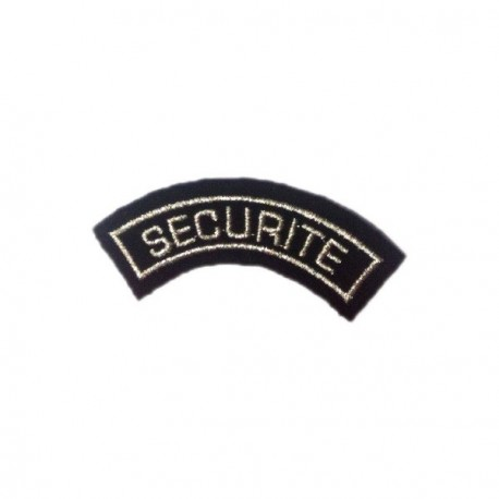 Badge demi-lune SECURITE